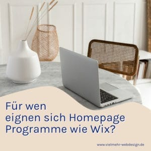 Homepage Programme WIX