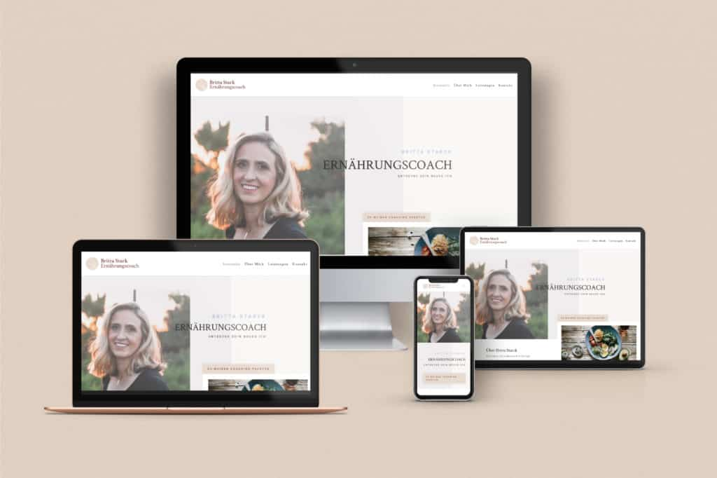 Website Portfolio Ernährungscoach Responsives Design