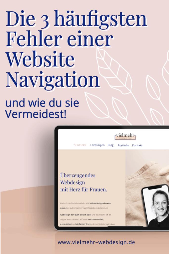Fehler einer Website Navigation