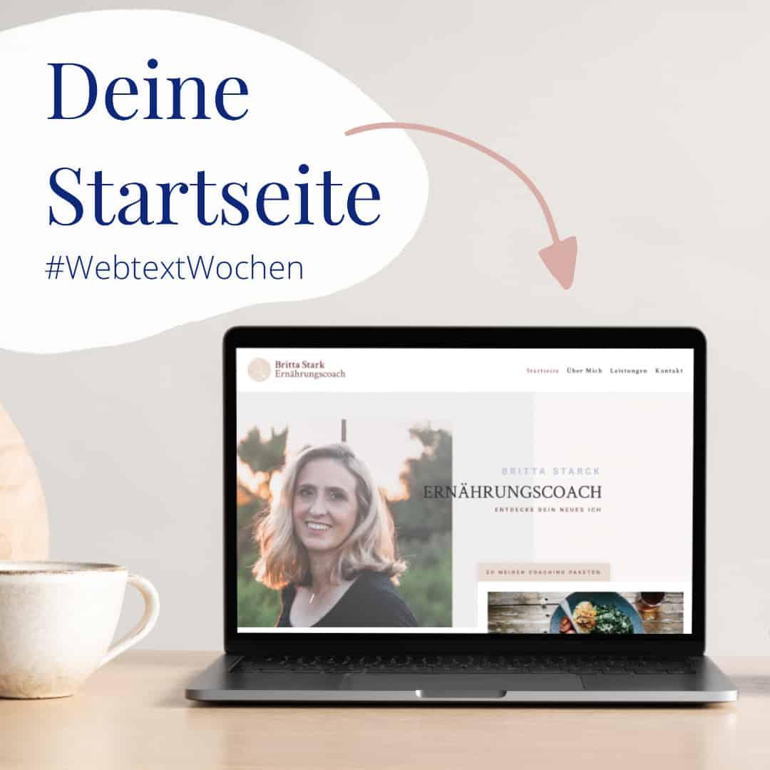 Inhalte deiner Startseite #webtextwochen