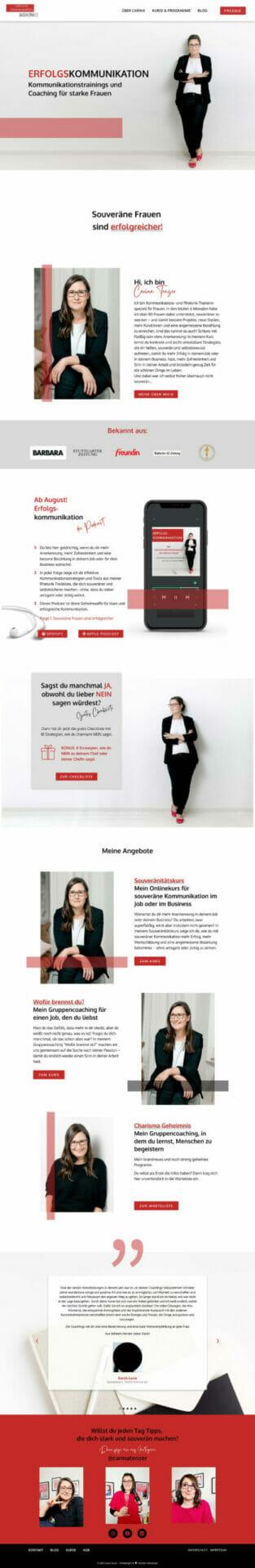 Carina-Tenzer-Kommunikationstraining für Frauen